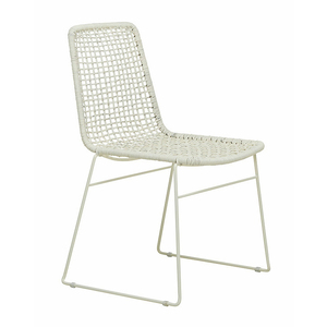 Olivia Open Weave Dining Chair White