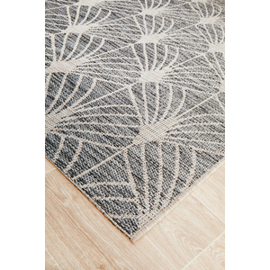 Terrace Black Sprout Outdoors Rug