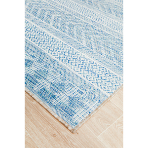 Terrace Blue Pattern Outdoors Rug
