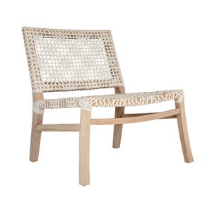 Sweni Occasional Chair White Leather