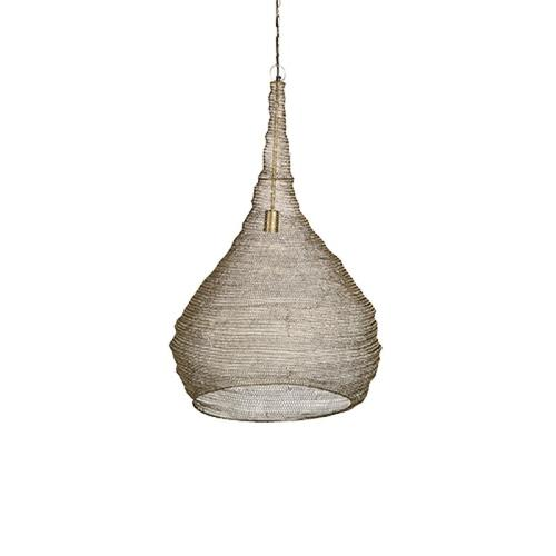 Luanda Large Crochet Bulb Gold